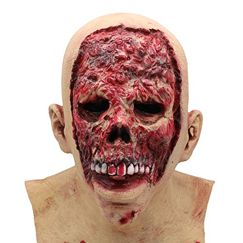 YXXHM- Halloween Zombie Latex Maske Horror Biochemical Dry Corpse Teufel Latex Perücken Haunted House Party Requisiten