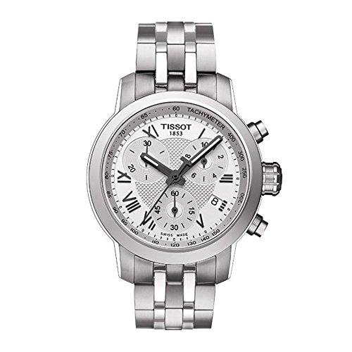 Tissot Herren T-Sport t055.217.11.033.00Silber Edelstahl Schweizer Chronograph