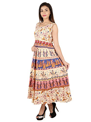 M.D Brothers Mandala Cotton Maxi Dress- Maroon- Free Size  available at amazon for Rs.499