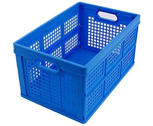 KLAPPBOX 45 LITER, stabile Transportbox, Made in Germany, 52,5x34,5x28 cm, Einkaufskiste klappbar, max. 175kg, blau