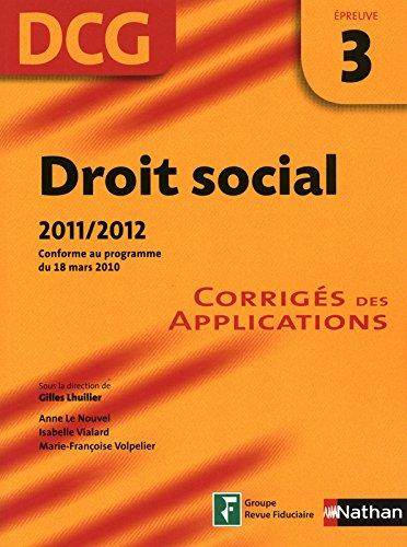 DROIT SOCIAL EPR 3 DCG CORRIGE