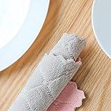 Yooshen Towels Geschirrtücher Küchentücher Nonstick Oil Coral Velvet Hanging Kitchen Geschirrtüch für küche und Bad, maschinenwaschbar, 27 * 16cm