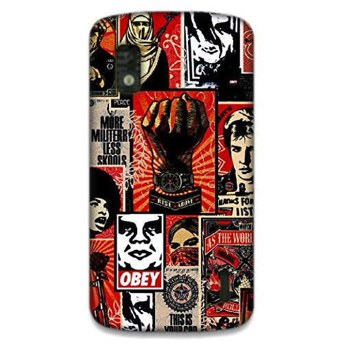 The Racoon Lean printed designer hard back mobile phone case cover for LG Nexus 4. (Obey)  available at amazon for Rs.99