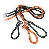 Romneys Jagd-Moxonleine Gamefair | Als Umhängeleine oder lange Retrieverleine geeignet | Mit Zugstopp | Robustes und stabiles Polyamidseil | Länge: 280cm (Orange)