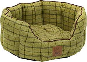 House of Paws Tweed Oval Dog Bed, 22-inch