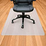 Sporcis Bodenschutzmatte Stuhlmatte transparent, 90 * 120cm Bürostuhl Sitzkissen PE Rutschfest Universal für Hartböden,Dick 1.8 mm