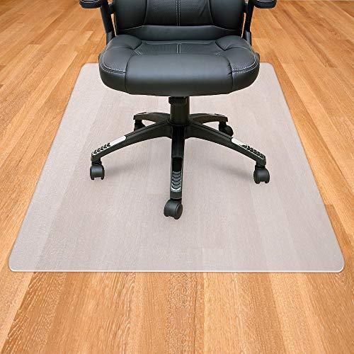 Sporcis Bodenschutzmatte Stuhlmatte transparent, 90 * 120cm Bürostuhl Sitzkissen PE Rutschfest...