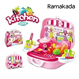 Best Barbie Play Kitchens - Kitchen Cook Pretend Play Set Toy for Girls Review