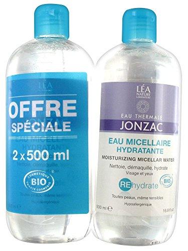 Eau de Jonzac Rehydrate Eau Micellaire Hydratante Lot de 2 x 500 ml