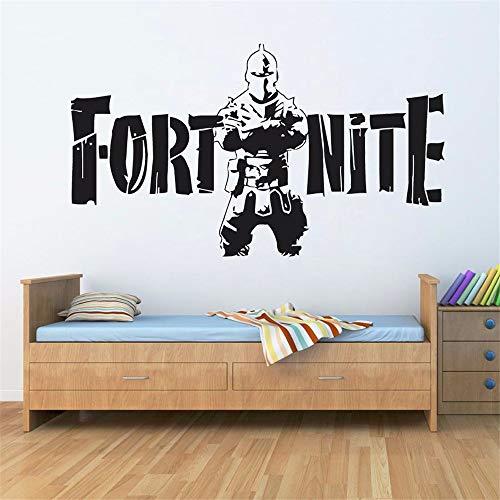 Dtcrzjxh 3d video game sign parete decalcomania del vinile murale ps4 gamer wall sticker poster home decor ragazzi camera da letto sala giochi parete del tatuaggio carta da parati 100x57cm