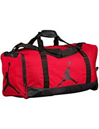 Nike Air Jordan Jumpman Duffel Sports Gym Bag Red Black 8A1913 Wet Dry Shoe 4937b9f58ae31