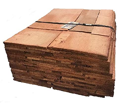 Pack Of Western Red Cedar Shingles No 1 Blue Label 7 6m2 Flat Coverage Roofing Shed Amazon Co Uk Diy Tools
