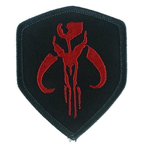 Eisen nähen auf Aufnäher Patch: Star Wars Mandalorian Bantha Skull Mercenary schwarz/red -