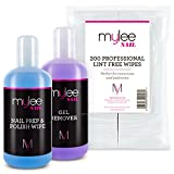 Mylee Salon Manicure Kit Which Includes Nail Prep & Wipe Polish Remover & Nail Wipes UV LED Kit Package for a Professional Gel Polish Soak Off Manicure and Pedicure