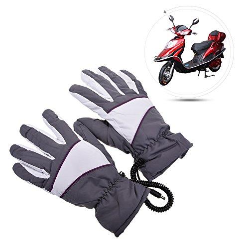 Bulary Elektrisch beheizt Handschuhe Wiederaufladbar, Wasserdicht Isoliert batteriebetrieben Heizung Handschuhe für Winter, Handwärmer für Outdoor Sports Grau (Beheizte Sichere Handschuhe)