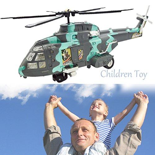 Modello militare elicottero elettrico giocattolo con luce flash simulare suono compleanno regalo di festa giocattoli per bambini bambini boys mimetico verde