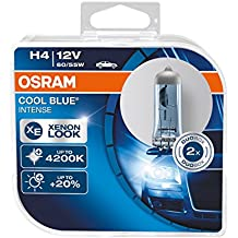 Osram 64193CBI-HCB Cool Blue Intense H4 Lampada Alogena per Proiettori, Duobox - Ford Explorer Led