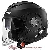 305701011XXL - LS2 OF570 Verso Solid Open Face Motorcycle Helmet XXL Matt Black