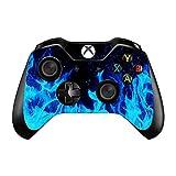 Uushop Blue Fire Flame Vinyle Skin en Coque pour Manette Microsoft Xbox One Wrap...