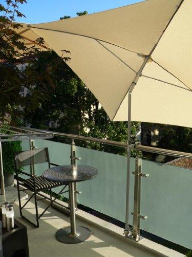 Le support pour écran rotatif à 360 ° – Le Soleil folgender parapluies Support – Support pour balcons – Chaises de tables de Liegen – reelingen Rampe de baignoire – à verre – et plexiglas Disques – à tours et éléments carrées avec douille en acier inoxydable jusqu'à 33 mm avec breveté Support universel 360 ° ® Mâchoires jusqu'à 40 mm de diamètre + capuchons en caoutchouc de fixation kratzfreien – Innovations fabriqué en Allemagne – Holly produits Stabielo® –-Holly Sunshade®