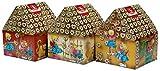 Weiss - Hexenhäuschen Lebkuchen Weihnachtsgebäck Weihnachtssüßwaren Lebkuchenhaus - 9x75g