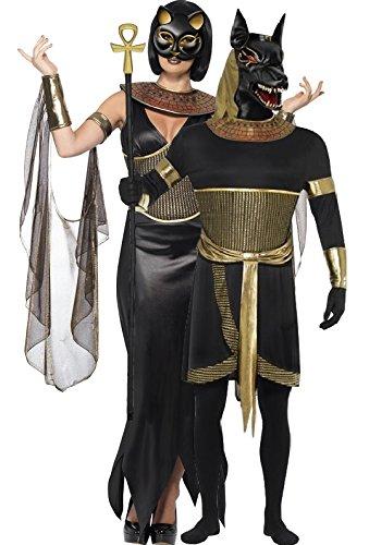 Paare Damen & Herren Ägyptische Gott Göttin Anubis Bastet Jackal Katze Feline Animal Halloween Fancy Dress Kostüm Outfit