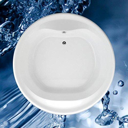 Badewanne 1600x1600 mm / 160x160 cm BORNEO O - Acryl Rundbadewanne