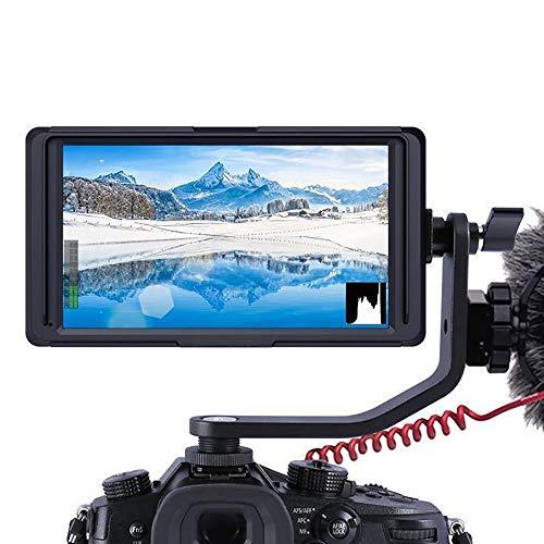 ZYLFN 5-Zoll-IPS-Spiegelreflexkamera auf Feldmonitor für Kameras, Kleiner Full HD 1920 x 1080-Fokus-Video-Assist-IPS-Support