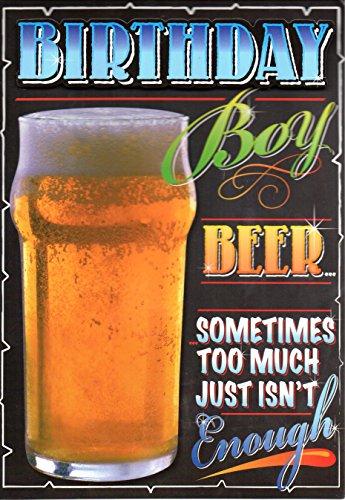 2D Geburtstagskarte Birthday Boy Bier Manchmal zu viel nicht genug