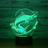 Neues Fischen beleuchtet Stereonachtlichtfischköder-Stimmungsbeleuchtungsfarbänderungsillusionsgeburtstagsgeschenkkinderspielzeug