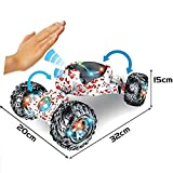 JIEHED Remote Control Car, Stunt RC Car Toy, Gesture Sensing Control Double-Sided Stunt Electric Car Toy Rotation, Deformation Racing Car Christmas & Birthday Gift for Children Kids Adult