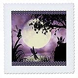 3dRose QS 35668_ 4Feen & Libellen mit einem Lila Mond