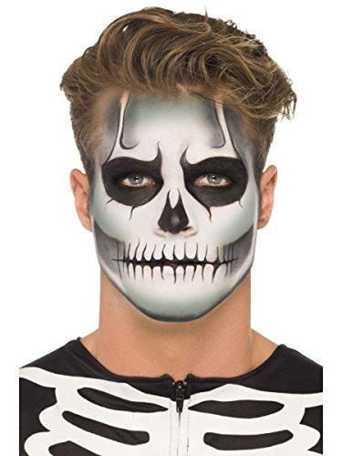 (Smiffys Schminke Set Halloween Skelett Totenkopf Schädel nachtleuchtend)