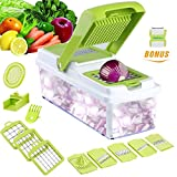 Mandoline 11 in 1 Food Cutter Slicer, Kitchen Vegetable Chopper Tomato Potato Dicer Cheese Sliver Grater Shredder Fruit Julienne Onion Slicing Dicing Grating Chopping Cutting Peeling by WEINAS
