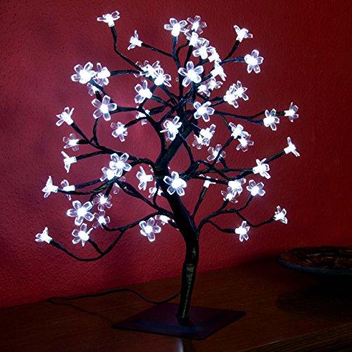 Weihnachtsbeleuchtung Led Baum.Nipach Gmbh 64 Led Baum Mit Blüten Blütenbaum Lichterbaum Weiß 45 Cm