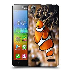 Snoogg Leno Fish Designer Protective Phone Back Case Cover For Lenovo A6010 Plus