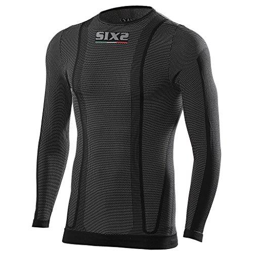 SIXS Carbon Shirt Rundhals schwarz XL - Motorrad Unterhemd