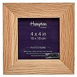 New England Legno massello di Rovere 4x4 pollici 10x10 cm schermo Photo Frame con un ampio profilo di 3,2 cm 464844OAK