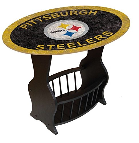 Fan Creations n0818-pit Pittsburgh Steelers Distressed Ende Tisch