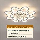 LED Acrylique Plafonnier Salon Cristal Plafonnier Chaud Romantique Moderne Simple...
