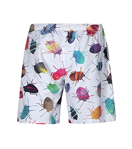 NiSeng Hommes Impression Boardshorts Casual Casual Shorts De Plage Maillot De Bain Surf Shorts 1#03