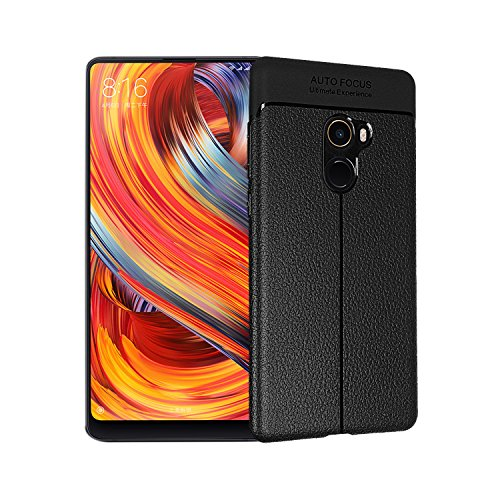 Casos Funda® Firmeza e Flexibilidade para Smartphone Xiaomi Mi MIX 2 (Preto)