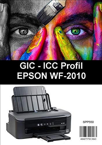 ICC Profil für GIC Sublimationstinte für Epson T16 Druckerpatronendrucker  wie den WF2010 usw
