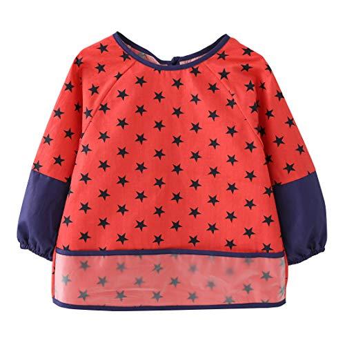 Happy Cherry Grembiule bambino grembiule pittura bambini bavaglino a grembiule impermeabile per neonati 4-5 anni