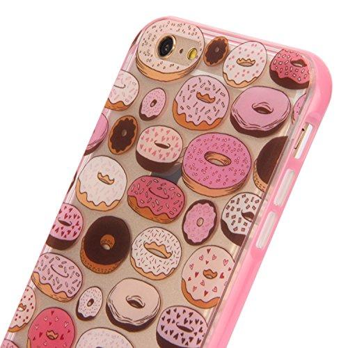 Ukayfe iPhone 6 Plus Coque, iPhone 6 Plus / 6s Plus Silicone Coque Classique Anti-choc Combo Housse Anti-poussière Etui Protecteur Ultra mince Case Cover Housse de Protection Cas en caoutchouc Souple  Donuts