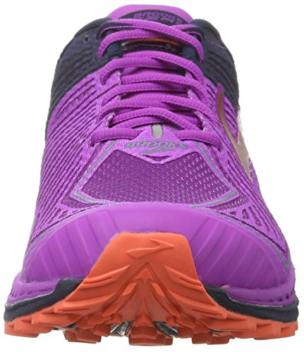 Brooks Mazama, Scarpe da Corsa Donna Multicolore (Purplecactusflower/Peacoat/Hotcoral)