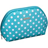 Audacity Turquoise Blue and White Polka Dot Cosmetic Make-up Toiletry Wash Bag for women and girls