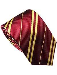 3b7e119a4e435 Zerlar Striped Wizard Tie School Necktie for Uniform Fancy Dress Costume