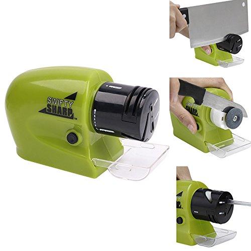 Multifunktionale Kitchen Elektrische Messerschärfer, Werkzeugschärfer mit extra feinem Schleifstein für Küche Messer/Schere/Obst Messer