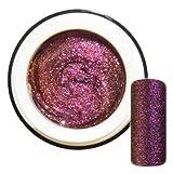 Flip Flop Farbgel Purple-Copper Violett-Kupfer mit Glitter hochdeckend 5ml